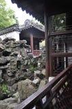 Szanghaj, 2nd może: Rockery krajobraz od sławnego Yu ogródu na śródmieściu Szanghaj zdjęcie stock