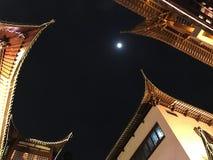 Szanghaj nocy chińczyka architektura Zdjęcia Stock