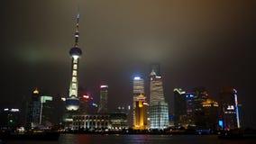 Szanghaj przy noc Pudong Zdjęcie Royalty Free