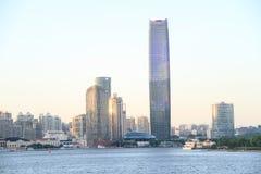 Szanghaj puxi jinguang centrum zdjęcie stock