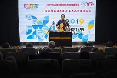 Szanghaj Shi 2 ulicy mieszkana kultury 2019 festiwal zdjęcia royalty free