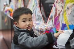 Szanghaj Shi 2 ulicy mieszkana kultury 2019 festiwal obraz royalty free