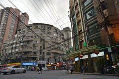 Szanghaj sklepu ulicy widok fotografia stock