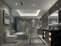 Szanghaj wysokogatunkowy apartment& x27; s lapidarny styl domowa toaleta Obraz Stock