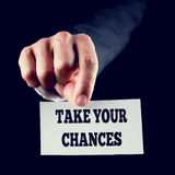szansy biorą twój obrazy stock