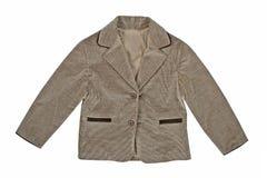 Szara barchanowa kurtka zdjęcia stock