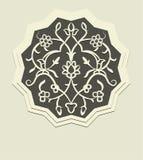 Szara dekoracja z Orientalnymi motywami Obrazy Stock