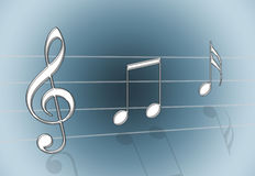 szara muzyki Fotografia Royalty Free