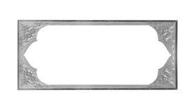 Szara obrazek rama odizolowywająca na białym tle Zdjęcia Stock