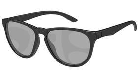 Szara okulary przeciwsłoneczni strona Zdjęcia Stock