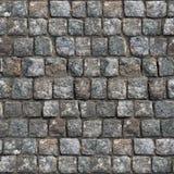 Szara Stara Kamienna Drogowa powierzchnia - Bezszwowa tekstura Zdjęcie Stock