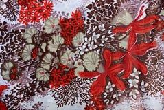 Szara tkaniny tekstura z wzorem Fotografia Royalty Free