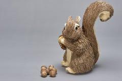 Szara wiewiórka (ornament) Zdjęcia Stock