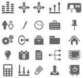 Szare biznesowe ikony Obraz Stock