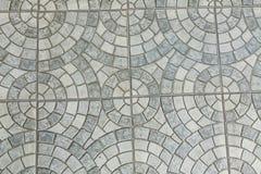 Szare Brukowe cegiełki - wzór okrąg obraz royalty free