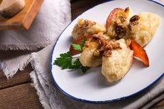 Szare kluski - Polish potato dumplings Royalty Free Stock Photos