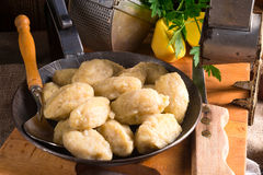 Szare kluski - Polish potato dumplings. A szare kluski - Polish potato dumplings stock photography