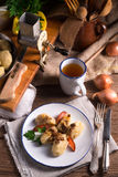 Szare-kluski - polnische Kartoffelmehlklöße Lizenzfreies Stockbild
