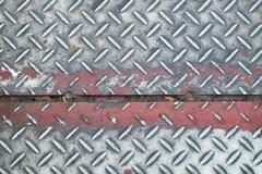 Szarego żelaza talerza podłoga tekstura fotografia royalty free