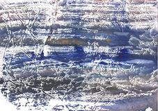 Szarego błękita marmuru akwareli abstrakcjonistyczny obrazek obrazy stock