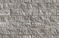 Szarego ściana z cegieł tła bezszwowa tekstura Obrazy Royalty Free