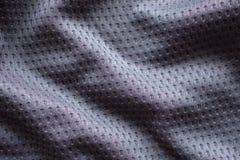 Szarego tkanina sporta ubraniowy futbolowy bydło z lotniczą siatki teksturą fotografia stock