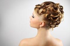 szarej fryzury nowożytny ślub obrazy stock