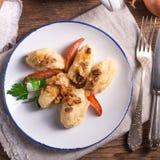 Szarekluski - Poolse aardappelbollen Royalty-vrije Stock Fotografie