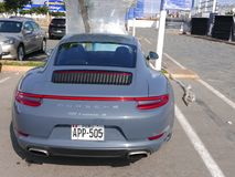 Szarość barwią nowego warunek Porsche 911 Carrera 4, Peru Obraz Royalty Free