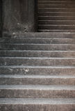 Szarość betonowi schodki fotografia stock