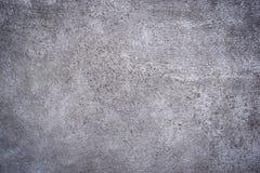 Szarość betonu tynk textured tło, winieta i kopia zdrój, Zdjęcia Stock