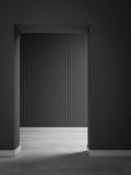 Szarość 3d ściany pokoju 3d renderingu wewnętrzny tło Zdjęcia Stock