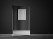 Szarość 3d ściany pokoju 3d renderingu wewnętrzny tło z obrazkiem Fotografia Stock