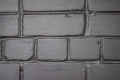 Szarość i srebra ściana z cegieł, doskonalić jako tło Obraz Royalty Free