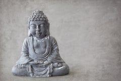 Szarość kamienny Buddha Fotografia Royalty Free