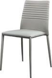 Szarość koloru biurowy rzemienny krzesło Nowożytny projektanta krzesło dla wnętrza Odizolowywający na bielu Obraz Stock