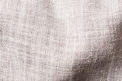 Szarość linnen wiskozową poliestrową mieszanki teksturę Zdjęcie Royalty Free