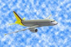 szarość samolotowy model royalty ilustracja
