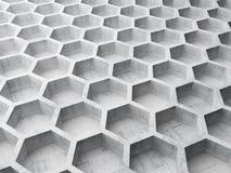 Szarości honeycomb betonowa struktura royalty ilustracja