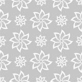 Szarości i białego kwiecisty ornament bezszwowy wzoru Zdjęcia Royalty Free