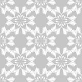 Szarości i białego kwiecisty ornament bezszwowy wzoru Obraz Royalty Free