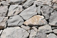 Szarości Rockowa Antyczna ściana Obrazy Stock