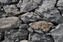 Szarości Rockowa Antyczna ściana Obrazy Royalty Free
