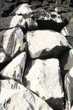 Szarości Rockowa Antyczna ściana Zdjęcie Stock