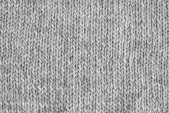 Szarości trykotowa tekstura Handmade knitwear Tło obraz royalty free