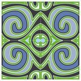 Szarości dekoraci Zielony wzór Zdjęcia Stock