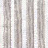 Szarość i bielu lampasów tkaniny zbliżenie Obraz Royalty Free