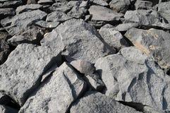 Szarości Rockowa Antyczna ściana Zdjęcia Royalty Free