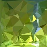 Szartreza wieloboka Zielony Abstrakcjonistyczny Niski tło Obraz Royalty Free