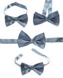 Szary łęku krawat odizolowywający Zdjęcia Stock